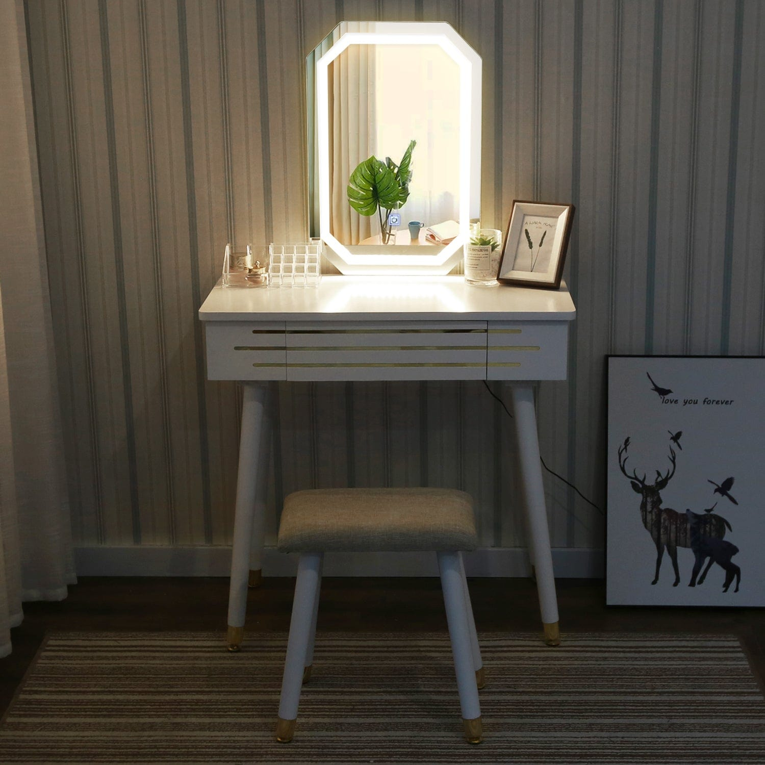 Elecwish (Round)Vessel Sink+Double Doors Vanity Set - Elecwish