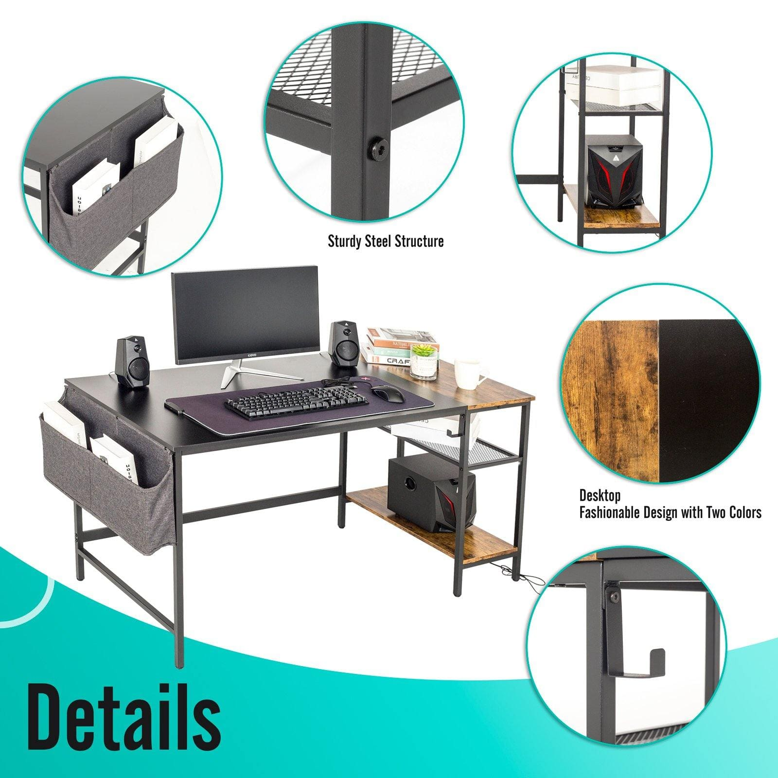 Home Office Computer Desk - Elecwish
