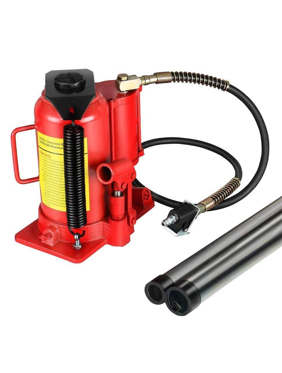 Red Air Hydraulic Bottle Jack