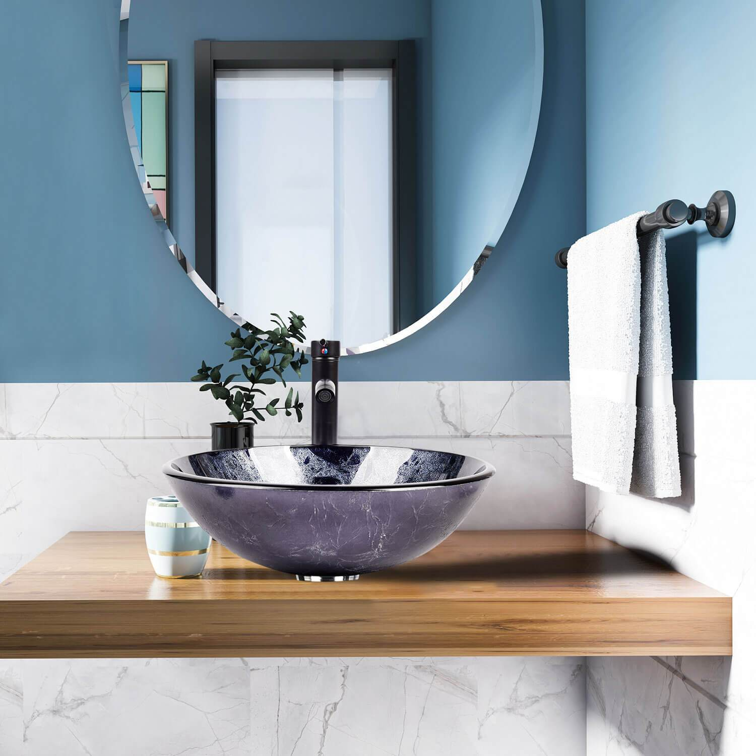 PULUOMIS  Bathroom Vessel Sink