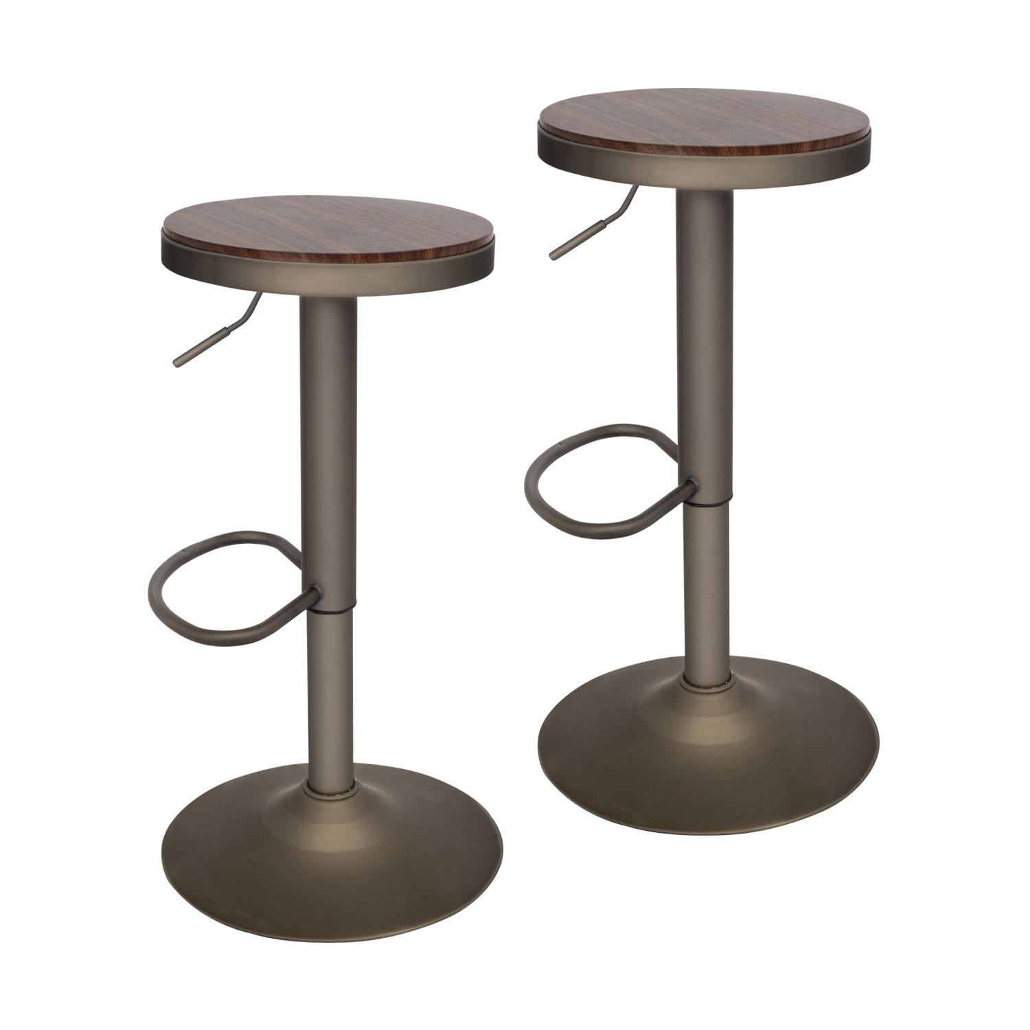 PULUOMIS 360 Degree Swivel Adjustable Bar Stool