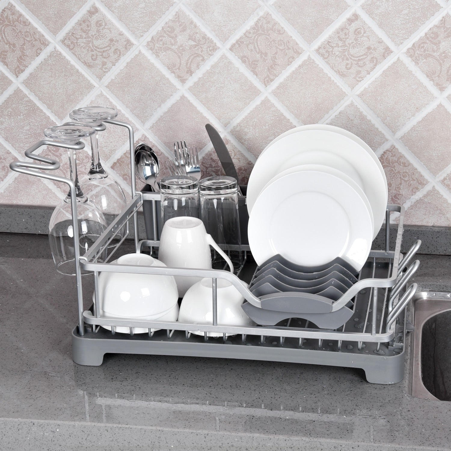 YOURLITE Dish Drying Rack for Kitchen Counter with Large Capacity