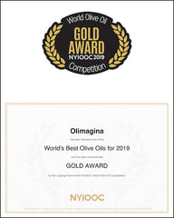 Olimágina Extra Virgin Olive Oil Early Harvest 2018 wins GOLD in the New York International Olive Oil Competition, 2019 (NYIOCC)