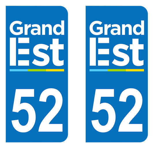 Sticker immatriculation 52 - Grand-Est