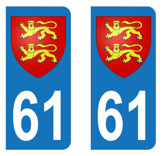 Sticker immatriculation 61 - Blason Normand