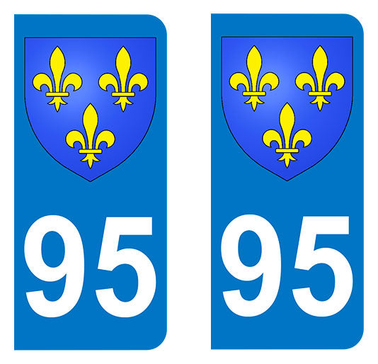 Sticker immatriculation 95 - Blason Ile de France