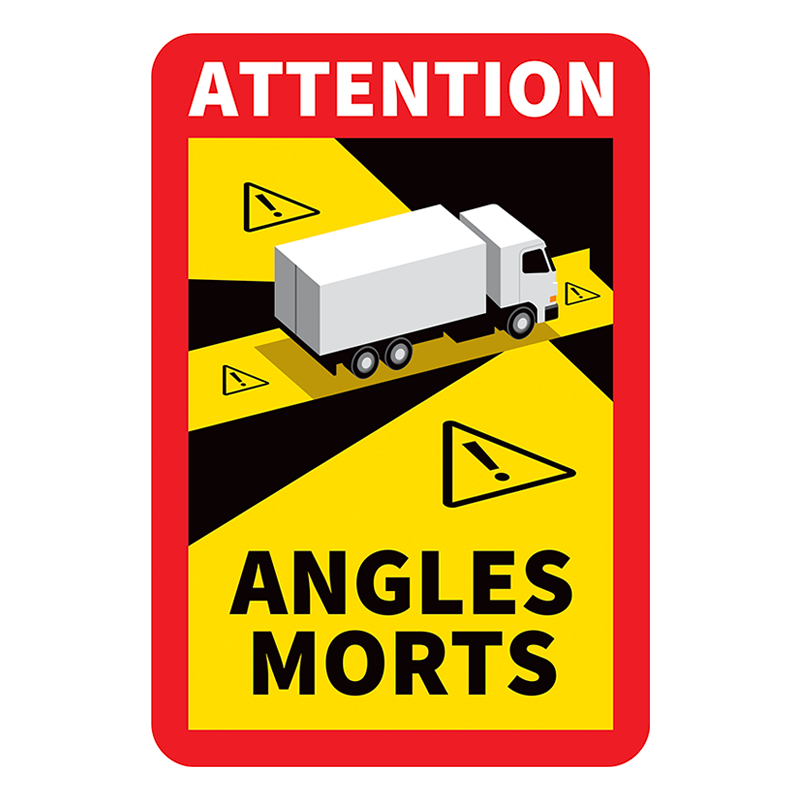 Autocollant Angles Morts (Bus/Camion)