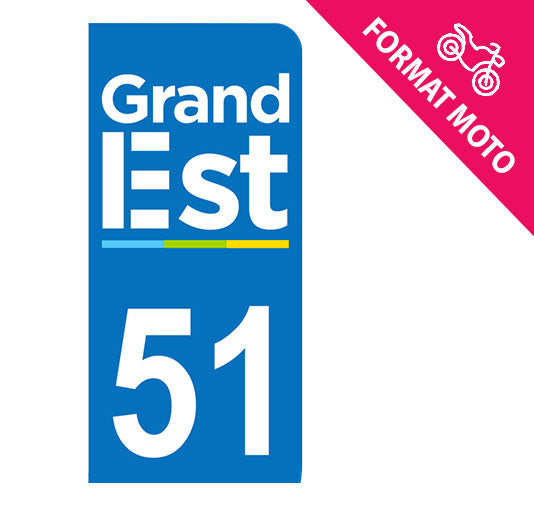 Sticker immatriculation 51 - Grand-Est