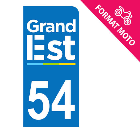Sticker immatriculation 54 - Grand-Est