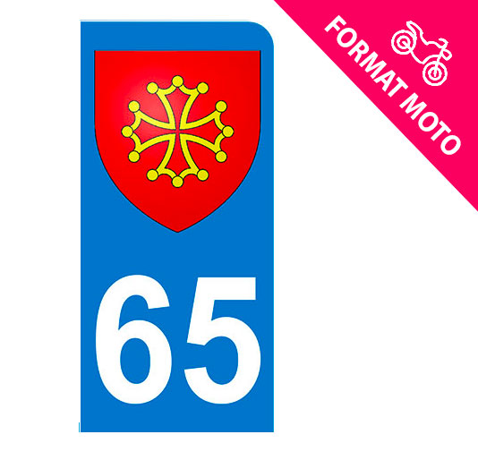 Sticker immatriculation 65 - Blason occitan