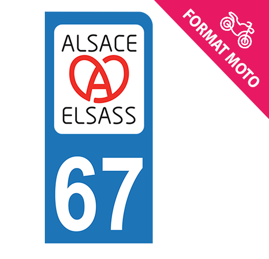 Sticker immatriculation 67 - Acoeur