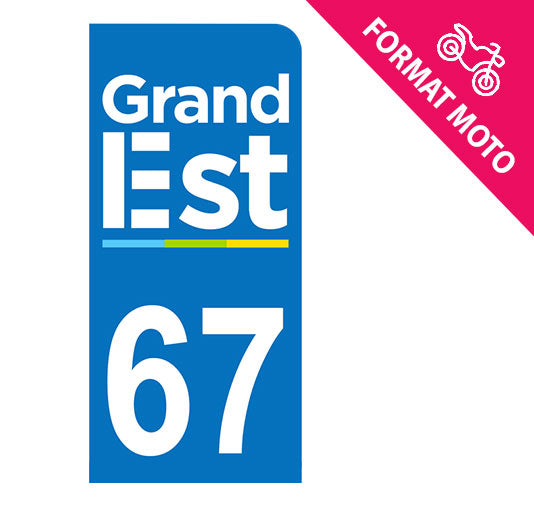 Sticker immatriculation 67 - Grand-Est