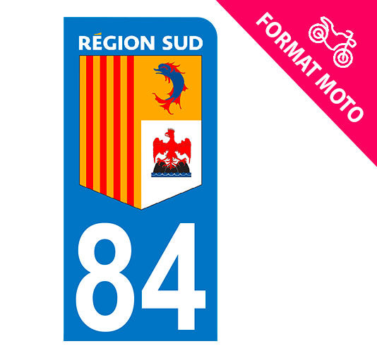 Sticker immatriculation 84 - Région Sud