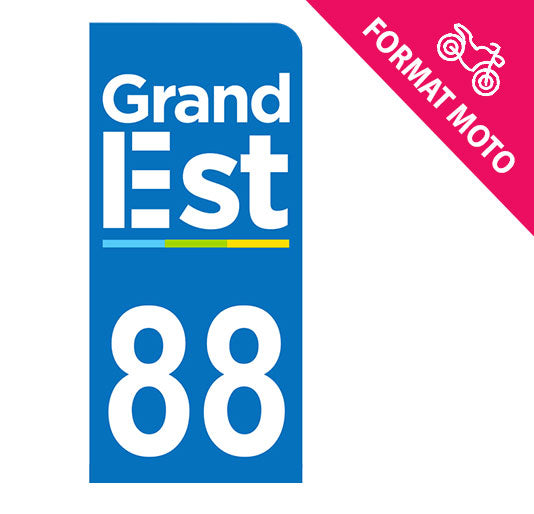 Sticker immatriculation 88 - Grand-Est