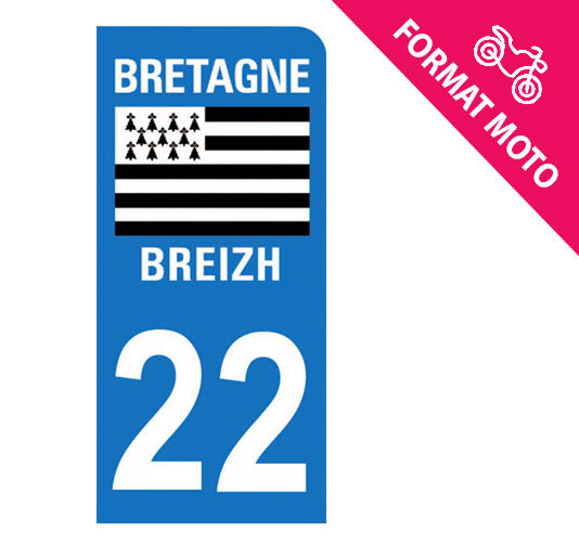 Sticker immatriculation 22 - Côtes d'Armor