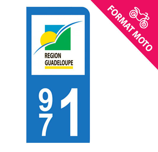 Sticker immatriculation 971 - Guadeloupe