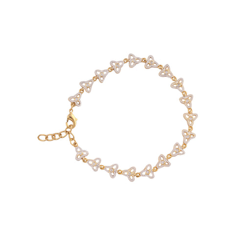 Beautiful American Diamond Bracelet in Golden Finish BR208