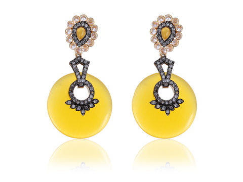 Alluring Semi-Precious Designer Earrings DE115