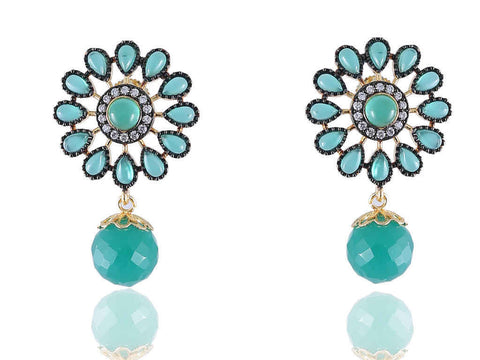 Adorable Designer Earrings in Blue Colour - DE124