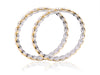 Stunningly Beautiful American Diamond Bangles in Golden finish DK33c