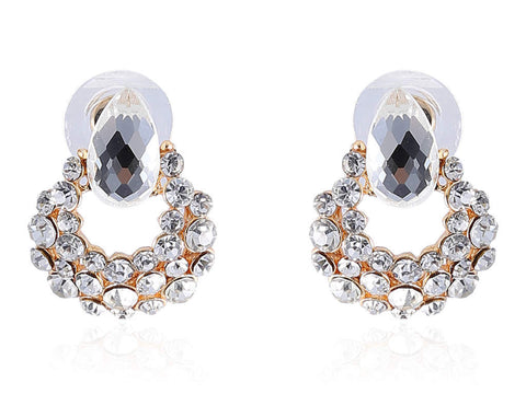 Fancy & Funky Earrings with Small White Stones F186