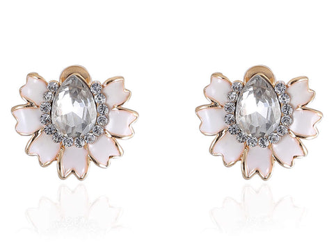 Desirable Fancy & Funky Earrings in White Colorand F266