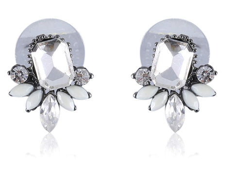 Eclectic Fancy & Funky Imitation Earrings with White Stones F299