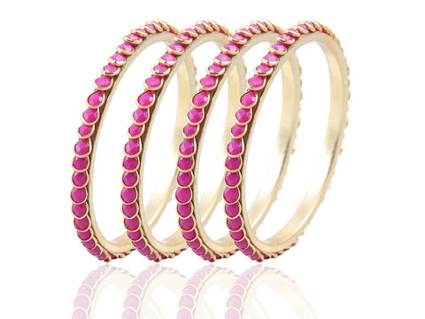 Beautiful and Serene Paachi Bangles in Pink FK29b