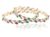 Design American Diamond Bangles with Multicolored stones DK31c