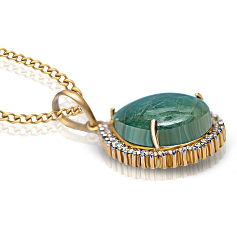 DASHING EMERALD PENDANT