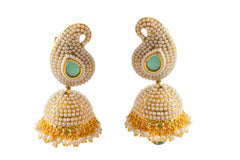Adorable Ambi (mango) Jhumki Polki Earrings PO474