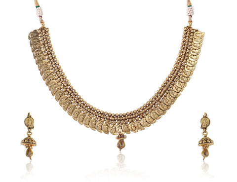 Ambi Style Laxmi Polki Necklace Set with Jhumkis POS416