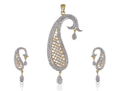 Beautiful Ambi style American Diamond Pendant Set PS769