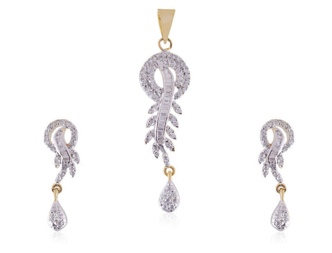 Beautiful Designer American Diamond Pendant Set PS790