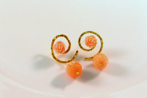 Tiny Droplet Fancy & Funky Earrings in Orange Colour - F197