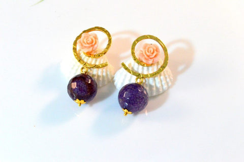 Pretty Fancy & Funky Earrings in Pink and Purple Colour - F200