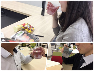 "The words of mouth from Japanese users -""FUJIUTSUSHI Mt. Fuji glass"" that makes drinking fun"
