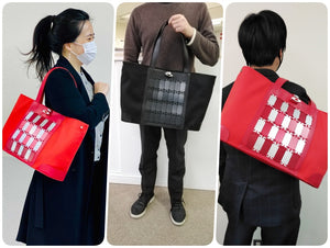 "The words of mouth from Japanese users - Samurai bag is born by applying the techniques of armor crafting! MITSUNARI from ""Kyoto MIYAKE"""