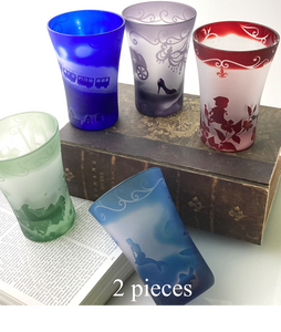 "A Wonderful Blend Japanese and Western Craft: Edo Kiriko's ""Glass of Stories"" Series (2 pieces)【1016-02】"
