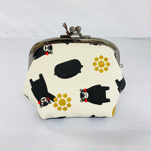 Kumamon Canvas Gamaguchi Purse (Set of 2)【0305-08】