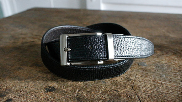 Expand or contract? reversible? Innovative genuine leather stretch belt like never before【1120-10】