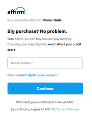 Affirm Account Signup