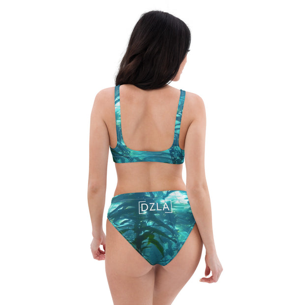 DZLA 'Our Planet' Help the Kelp Women's Recycled high-waisted bikini