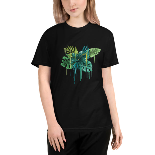 DZLA 'Our Planet' Flower Power Women's Sustainable T-Shirt