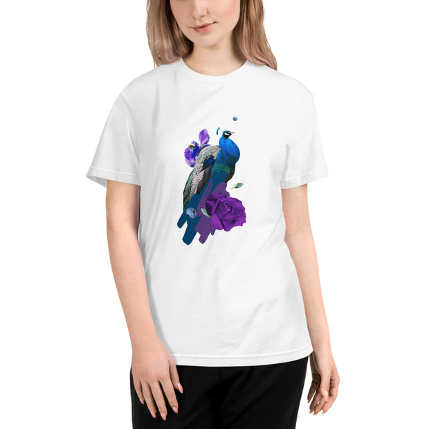 DZLA 'Our Planet' Peacock Women's Sustainable T-Shirt