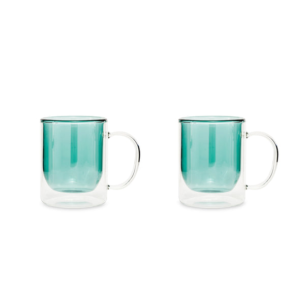 Earl Double Wall Glass Mug