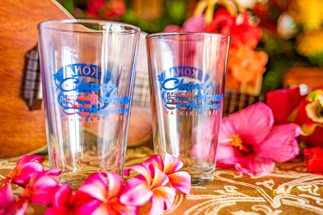 2 Chart House Waikiki Pint Glasses