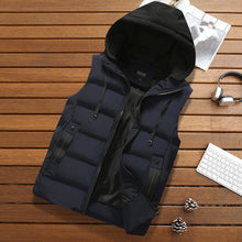 Load image into Gallery viewer, Blue / 4XL Mens hooded body warmer - Look 4 Lifestyle