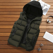 Load image into Gallery viewer, Green / 4XL Mens hooded body warmer - Look 4 Lifestyle