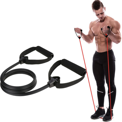 Black band Pilates single handle resistance band - Look 4 Lifestyle